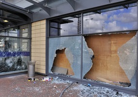 Commercial Storefront Repair by All Service Glass in Portland OR Gresham Troutdale