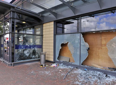 Storefront Repair by All Service Glass in Portland, OR